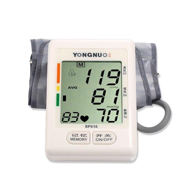 2016  Arm blood pressure monitor tonometer pulsometro digital upper portable health monitors meters sphygmomanometer