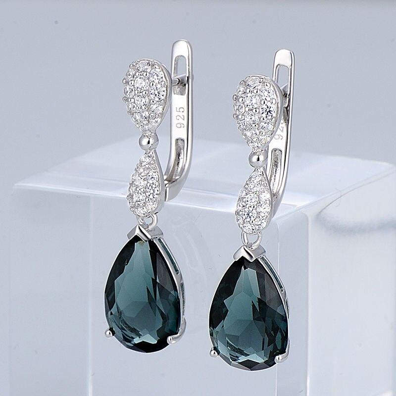 Silver Earrings - E303468BLGZ1SL925-SV10