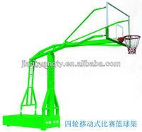 Portable Basketball пост с четыре колеса