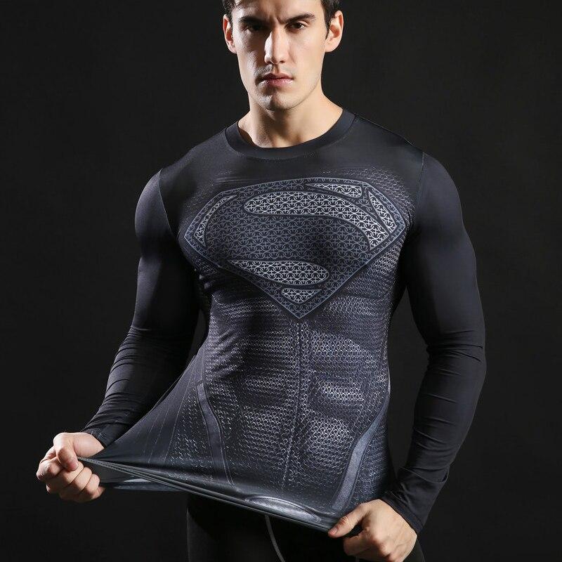 2510c1b0390a4 Camiseta Compressão Cross Fit - Batman Aranha Superman Homen de Ferro-  Personagens - Manga Longa