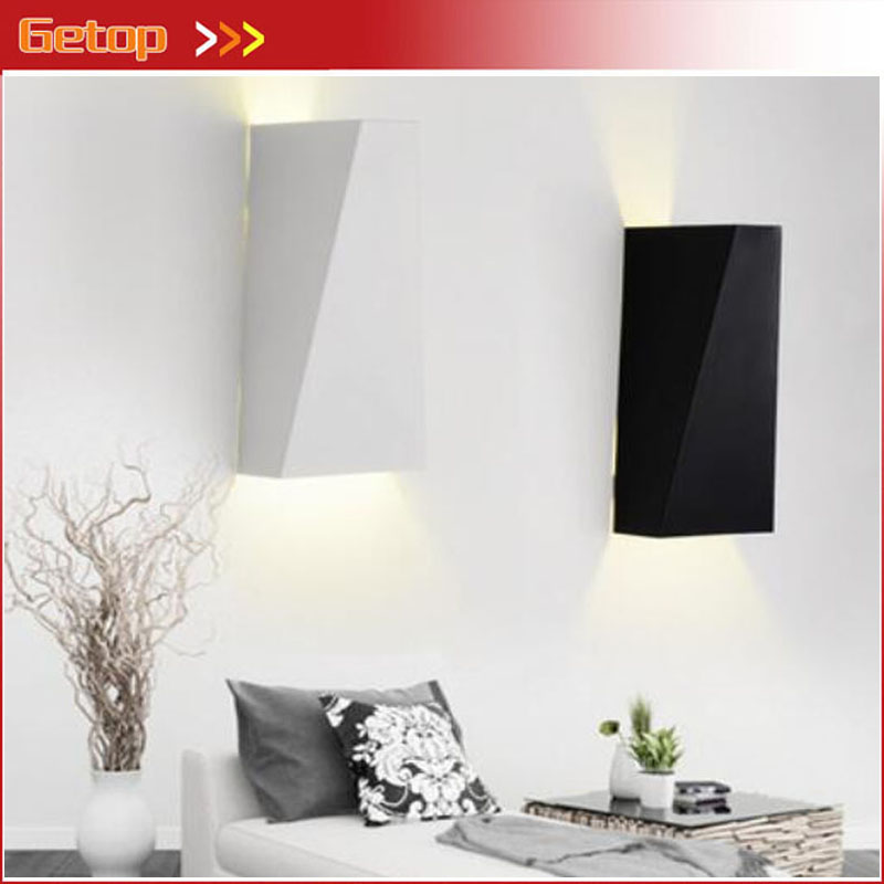 GETOP Modern Creative Wrought Aluminum LED Chip Box Wall Lamp Fixture Livingroom Bedroom Balcony Corridor Wall Lamp Free Ship mebelvia flowers via gladiolus 120х190