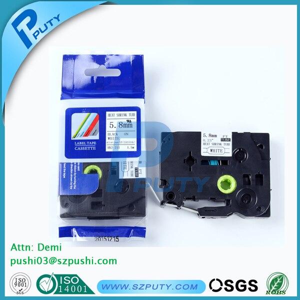 5pcs/lot HSe heat shrink tape cartridge HSe-211~ 5.8mmx1.5m HSe tape for cabel mark картридж kyocera tk 3130 black for fs 4200dn fs 4300dn m3550idn m3560idn