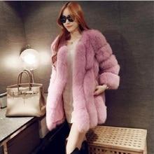 Fur Coat Women Three Quarter SleeveThick Winter Warm 2016 Artificial Fur Women's Clothing Jacket Faux Fur Coat