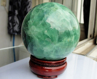64MM +Stand Glow In The Dark Natural Fluorite Magic Crystal Healing Ball
