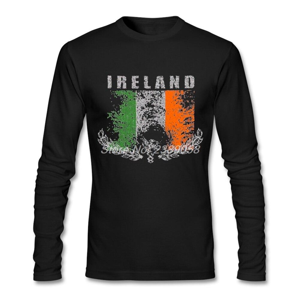 Design t shirt sell online - 2017 Hot Sale Men T Shirt Design Ireland Flag Logo Casual Brand Clothing Cotton Long Sleeve