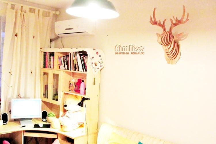 NODIC Deer head,home decoration,wall art diy wooden craft wall decor ...