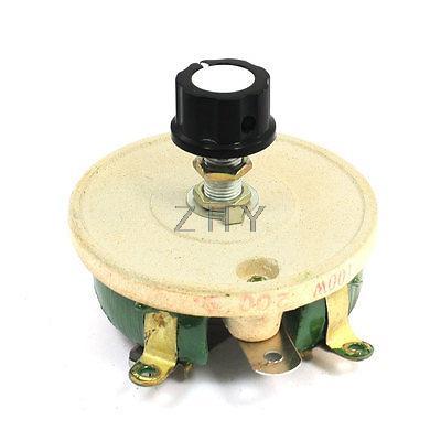 Single Turn Resistor 100W 200 Ohm Volume Control Ceramic Disk Rheostat 1 1000w 4 ohm aluminum housed braking resistor wire wound resistor