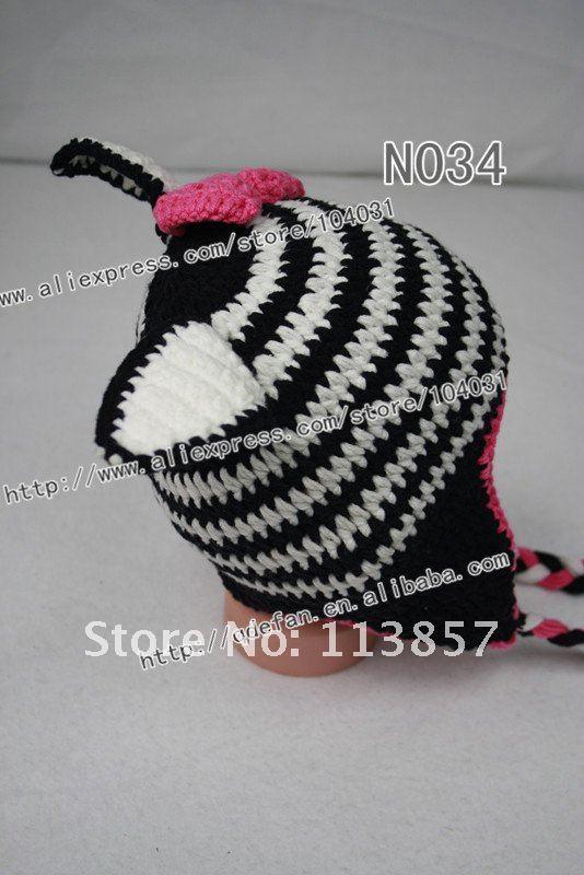 Wholesale100 % del bebé del algodón sombrero de la cebra patrón de ...