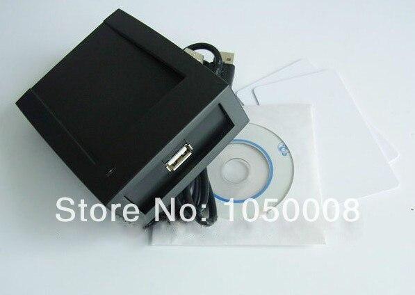 1 pcs/lot Rfid nfc lecteur et écrivain 13.56 Mhz ISO14443A ultraléger + 2 Cartes + câble USB + SDK