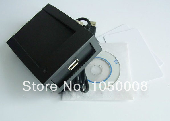 1pcs/lot Rfid nfc reader and writer 13.56Mhz ISO14443A ultralight +2 Cards+USB cable+SDK