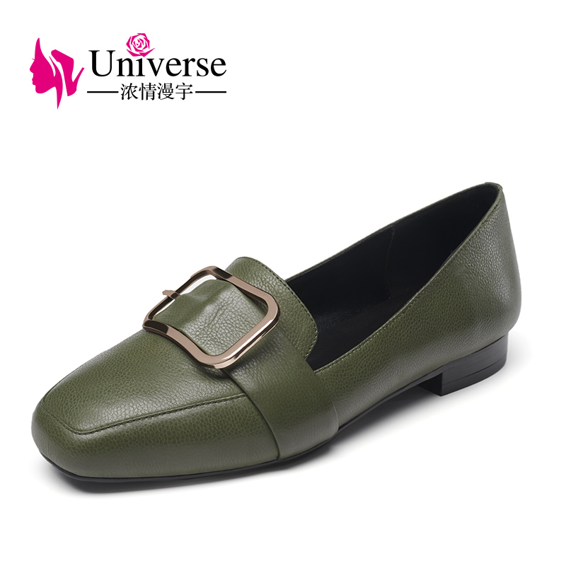 Universe Fahion Casual Shoes Comfortable Genuine Leather Women Shoes Buckle G048