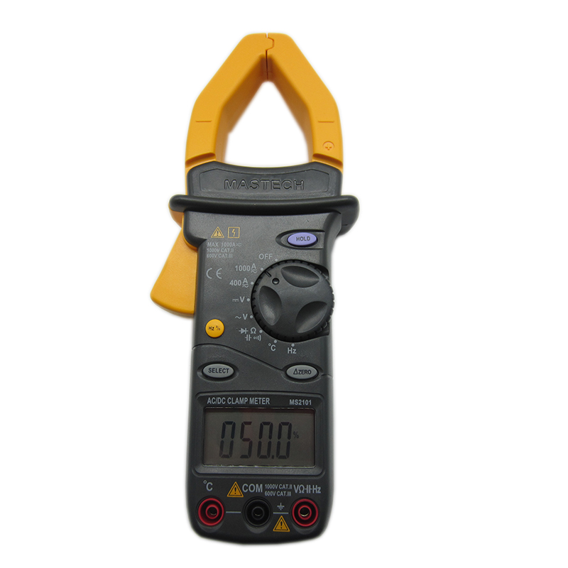 FREE SHIPPING MASTECH MS2101 Digital Clamp Meter AC/DC Current/Voltage/Resistance/Capacitance/Frequency/Multimeter Auto Range  цены