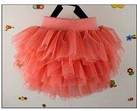 4 шт., зеленый, розовый черный оранжевый сладкий луки мини юбка, дети юбка бальное платье детская одежда