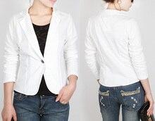 New Autumn Women Blazers Clothes Slim Top OL Jacket Coat Lapel One Button Three Quarter Sleeve Outerwear Short Suit