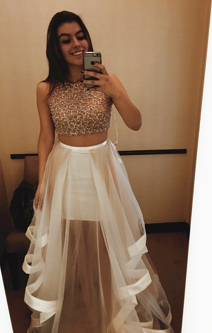 Piece Prom Dresses Plus Size