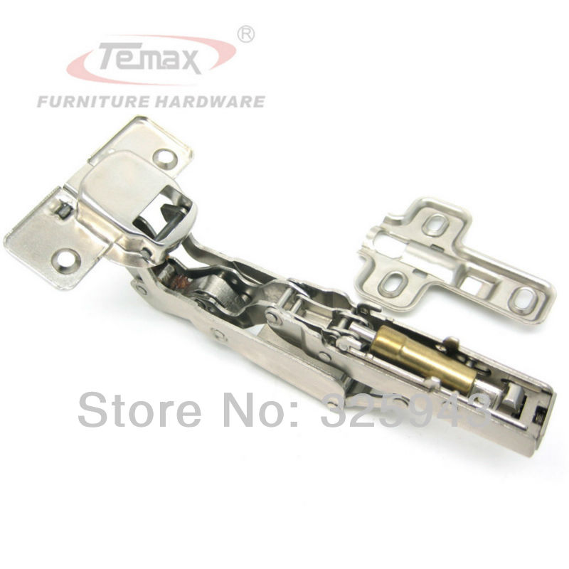 Full Overlay Temax Furniture Hinge Steel And Brass Buffer Hydraulic Cabinet  Door Hinges 165 Degree Clip On Soft Close In Cabinet Hinges From Home ...