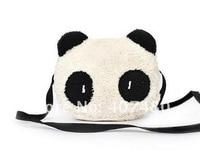 оптовая продажа в розницу мода рюкзак комплект сумка леди девушки мальчик мужская студент шул сумка холст симпатичные панда животных 3д 2В один