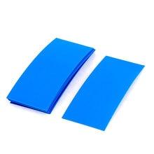 UXCELL 10 Шт. 72 Мм Х 18.5 Мм Пвх Термоусадочная Трубка Синий Для 1X18650 Батареи тепла   термоусадочная   трубки