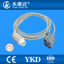 Adulto Ponta Macia sensor de spo2 para Mindray T5/T8 (módulo Masimo), 7 pinos