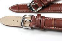 zlimsn 24 мм руководство ремешки металл поясная пряжка мода коричневый натуральная кожа смотреть группы ремень tg104b
