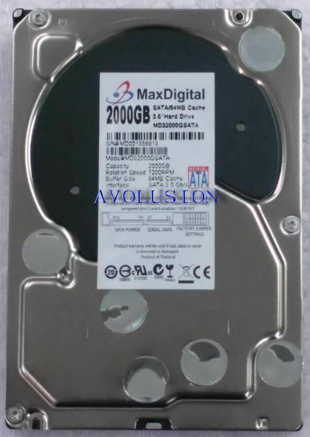 2000GB SATA 3.5 Enterprise Grade Security CCTV Hard Drive Warranty for 1-year