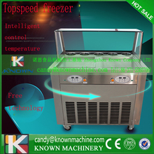 2016 year Hot sale 110V 220V fried ice cream machine double R410a refrigetant
