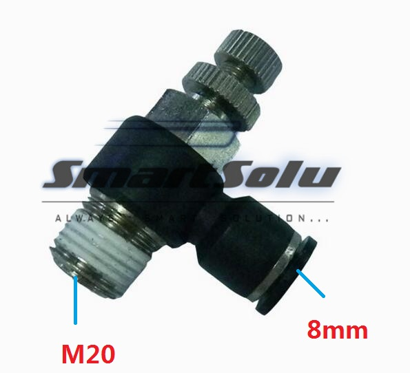 Free Shipping10pcs/lot SL08-M20Pneumatic Throttle Valve,Quick Push In 8MM Tube M20 Inch Air Fitting Flow Controller 5pcs lot sspmm stainless steel anticorrosion food grade quick connect air tube accessories bulkhead union fitting sanmin
