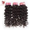 Italian curl extensión del pelo virginal malasio 6A armadura Virginal Del Pelo humano natural negro 3 unids/lote mejor calidad para su buen pelo