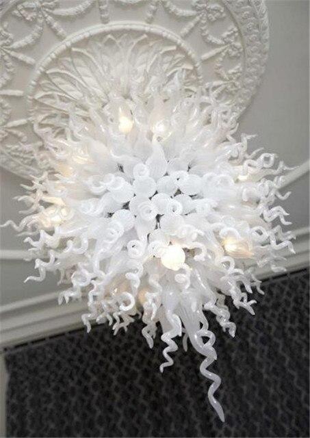 Lampadari Di Murano Bianchi.Risparmio Energetico Nuovo Arrivo Bianco Cristallo Led Lampadario In