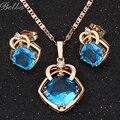 Nuevo Collar Pendiente de Cadena de Joyería de Moda cristales Austriacos Pendientes de la joyería de oro Verdadero de La Joyería Para Las Mujeres (JS0067)