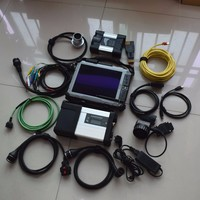 2019 super 2IN1 mb star c5 sd connect and for bmw icom next with newest software ssd in xplore ix104 i7 4g laptop ready to use