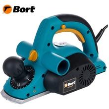 Рубанок электрический Bort BFB-710N (компактная эргономичная модель, позволяющая обрабатывать и выравнивать деревянные заготовки)