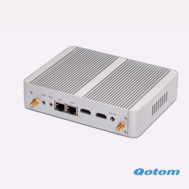 Qotom M150S Cheapest N3150 Quad core linux ubuntu computer in china OEM X86 Mini pc