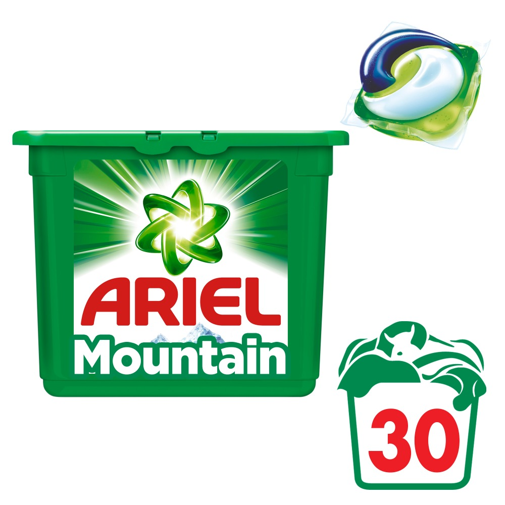Washing Powder Capsules Ariel Capsules 3in1 Mountain Spring (30 Tablets) Laundry Powder For Washing Machine Laundry Detergent shiitake mushroom extract powder 30% polysaccharide powder
