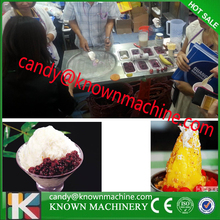 double flat pan commercial fruit juice fry ice cream machine with 410a refrigerant