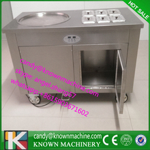 2015-2016 year newest design topspeed freezer Fry Ice Cream Roll Machine with diameter 450mm