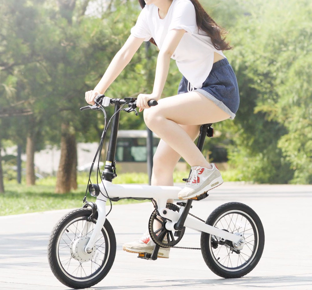 UT8PzS.X4NbXXagOFbXa - Unique model Mi Qicycle 20KM/H Foldable Bluetooth 4.zero Telephone APP Monitor sensible Electrical Bicycle With 1.8'' Display bike