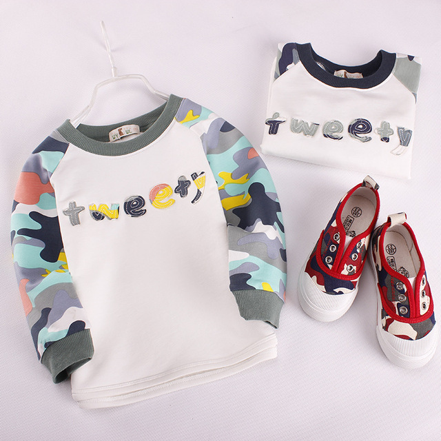 boy top pullover cotton tee long sleeve o neck spring and autumn top pullover Children's Clothing Costume quality fashion hot so