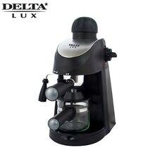 DL-8150K кофеварка рожковая, функция капучино, давление 5 бар. Вместимость 240мл, 800Вт. Съемный многоразовый фильтр из нержавеющей стали. Съемный моющийся поддон, шкала уровня воды.Световой индикатор