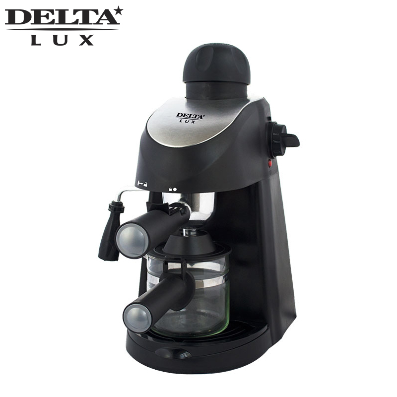 DL-8150K Coffee maker machine black drip, cafe household american plastic material, full automatic, work indicator dl t06a 220v 50hz fully automatic multifunctional bread machine intelligent and face yogurt cake machine 450g 700g capacity 450w