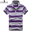 Men's Polo Shirt  Brand Short Sleeve Summer 2016 New Mens Shirts Fashion Striped Camisa Masculinas Contrast Color Polos Z1542