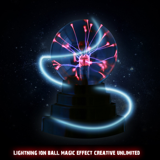 Plasma Ball Light Magic Crysta Ball Lamp Ion Sphere Lightning Carnival Atmosphere Lamps For KTV Purify Air Novelty Night Lights
