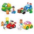3 Стили Пластиковые Блоки Счастливы Флот Minifigures DIY Модель Блоки Комплект Образовательные Игрушки Автомобиль для Девочек и Мальчиков Legoelieds