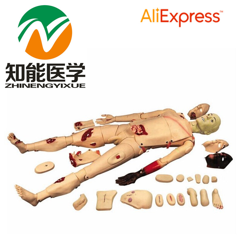 BIX-H111 Full Function Trauma Nursing Manikin WBW032 bix h2400 advanced full function nursing training manikin with blood pressure measure w194