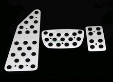 Car Accessories Aluminum AT Auto Transmission Accelerator Brake Footrest Pedal Pedales  Plate Pads For Toyota Land Cruiser 200