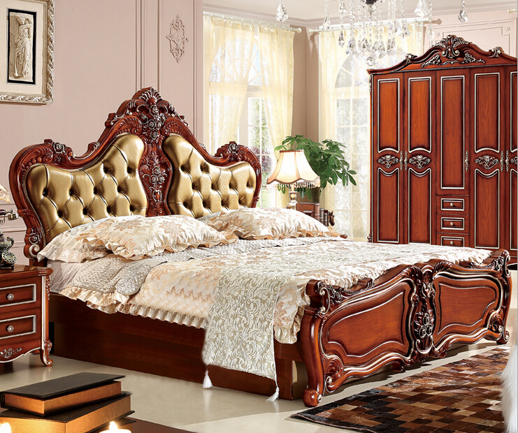 Furniture Furniture: New Classical Hand Carved Bedroom Furniture BH9803-in Beds