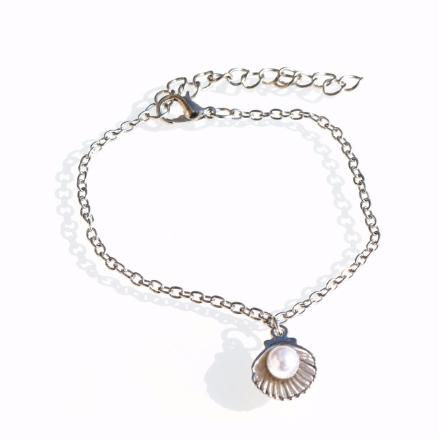 L205 Wrap Bracelet Simulated Pearls Pendant Charm Bracelets & Bangles For Women Fashion Jewelry Shell Chain pulseira feminina