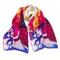 SAUTTO 100% de seda Impresa Mujeres Bufanda Diseñador de la Marca de Moda de Lujo Ocasional de Seda Bufandas Del Mantón Largo Del Abrigo de Monet Pintura Silenciador