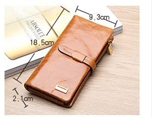 Free Shipping 100% Genuine Leather women`s Long section of the multi-card wallet Retro purse.Clutch Bag JJ1028