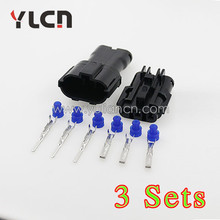 China factory Direct 3sets kit auto cable connector, knock sensor YLCN plug 6189-0591
